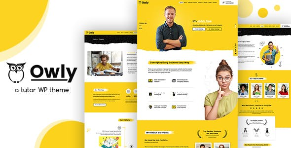Download Owly  – Tutoring & eLearning WP Theme wordpress themes gpl licenced not nulled not cracked for free
