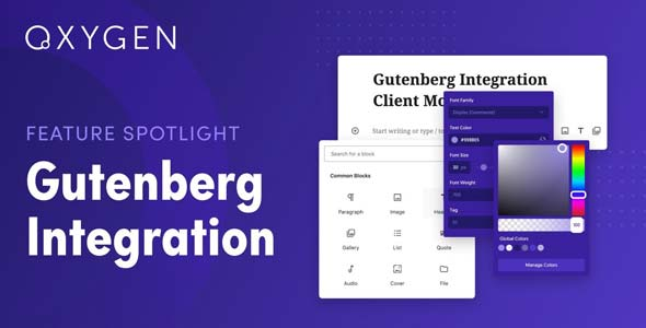 Download Oxygen Gutenberg Integration Wordpress Plugins gpl licenced not nulled not cracked for free