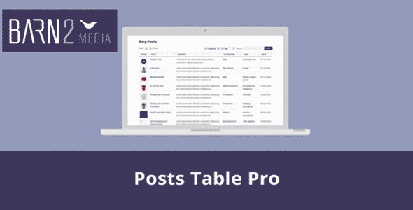 Download Post Table Pro WordPress Plugin Wordpress Plugins gpl licenced not nulled not cracked for free