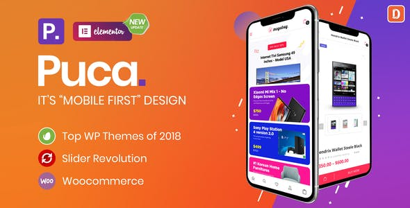 Download Puca  – Optimized Mobile WooCommerce Theme wordpress themes gpl licenced not nulled not cracked for free