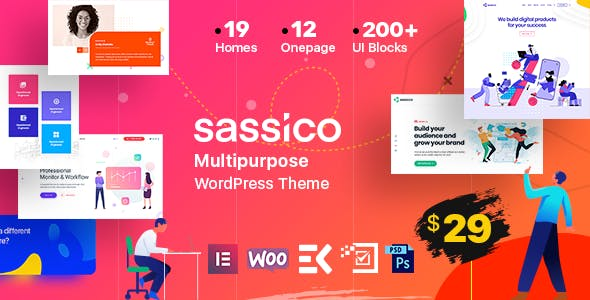 Download Sassico  – Saas Startup Agency Theme wordpress themes gpl licenced not nulled not cracked for free