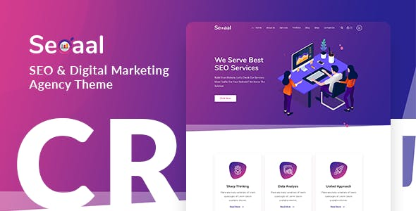 Download Seoaal  – SEO & Digital Marketing Theme wordpress themes gpl licenced not nulled not cracked for free