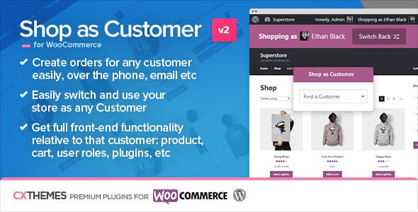 Download Shop as Customer for WooCommerce Wordpress Plugins gpl licenced not nulled not cracked for free