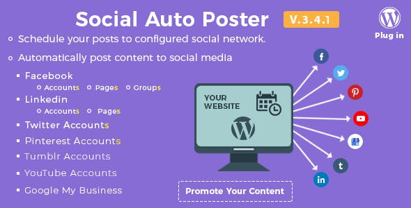 Download Social Auto Poster WP Plugin Wordpress Plugins gpl licenced not nulled not cracked for free