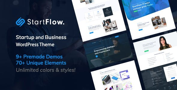 Download Start Flow  – Startup and Creative Theme wordpress themes gpl licenced not nulled not cracked for free