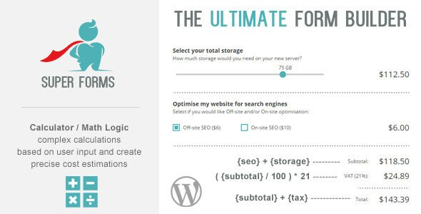 Download Super Forms – Calculator Add-on Wordpress Plugins gpl licenced not nulled not cracked for free