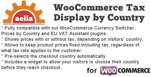 Download Tax Display by Country for WooCommerce Wordpress Plugins gpl licenced not nulled not cracked for free