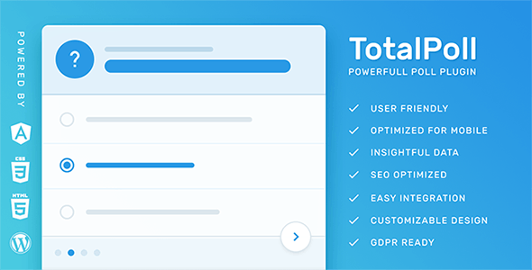 Download TotalPoll Pro  – Responsive Poll Plugin Wordpress Plugins gpl licenced not nulled not cracked for free