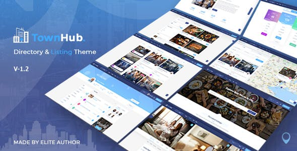 Download TownHub  – Directory & Listing Theme wordpress themes gpl licenced not nulled not cracked for free