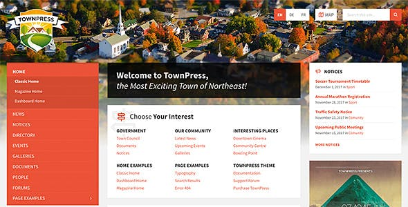 Download TownPress  – Municipality WordPress Theme wordpress themes gpl licenced not nulled not cracked for free