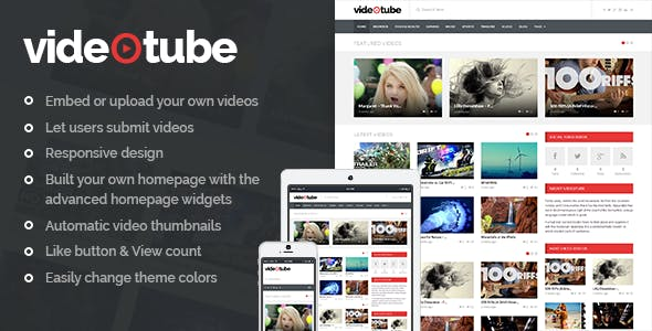 Download VideoTube  – A Responsive Video Theme wordpress themes gpl licenced not nulled not cracked for free
