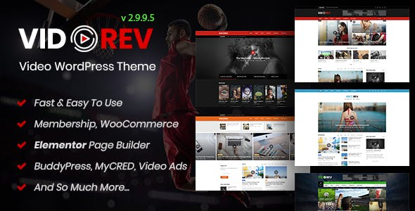 Download VidoRev  – Video WordPress Theme wordpress themes gpl licenced not nulled not cracked for free