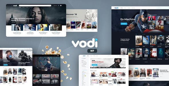 Download Vodi  – Video Theme for Movies & TV Shows wordpress themes gpl licenced not nulled not cracked for free