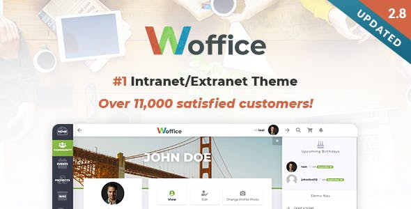 Download Woffice  – Intranet Extranet WordPress Theme wordpress themes gpl licenced not nulled not cracked for free