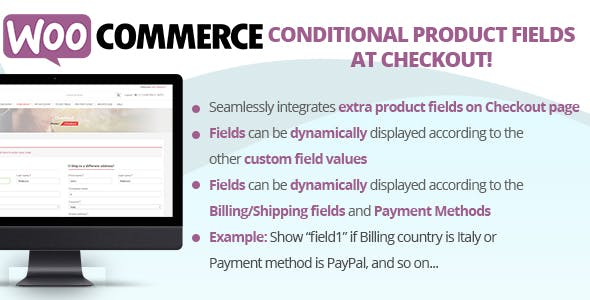 Download Conditional Product Fields at Checkout Wordpress Plugins gpl licenced not nulled not cracked for free