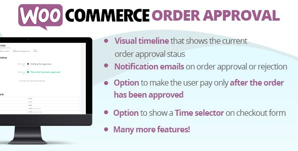 Download WooCommerce Order Approval Wordpress Plugins gpl licenced not nulled not cracked for free