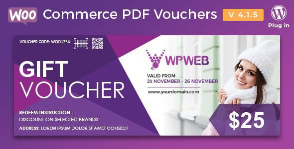 Download WooCommerce PDF Vouchers Wordpress Plugins gpl licenced not nulled not cracked for free