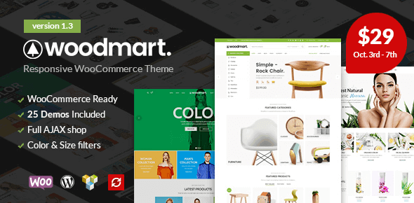 Download WoodMart  – WooCommerce WordPress Theme wordpress themes gpl licenced not nulled not cracked for free