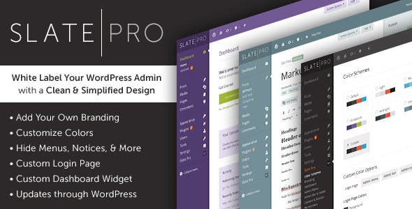Download Slate Pro  – Admin Theme & White Label Wordpress Plugins gpl licenced not nulled not cracked for free