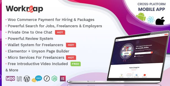 Download Workreap  – Freelance Marketplace & Directory wordpress themes gpl licenced not nulled not cracked for free