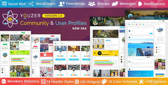Download Youzer  – Community & User Profile Wordpress Plugins gpl licenced not nulled not cracked for free