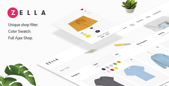 Download Zella  – WooCommerce AJAX Theme wordpress themes gpl licenced not nulled not cracked for free