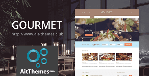 Download AIT Gourmet WordPress Theme wordpress themes gpl licenced not nulled not cracked for free