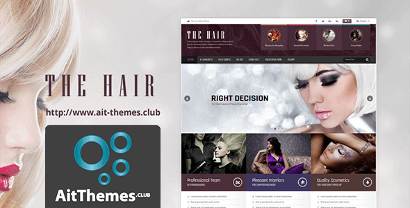 Download AIT Hair WordPress Theme wordpress themes gpl licenced not nulled not cracked for free