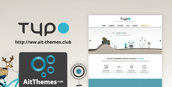 Download AIT Typo WordPress Theme wordpress themes gpl licenced not nulled not cracked for free