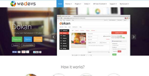Download Dokan eCommerce Marketplace Theme wordpress themes gpl licenced not nulled not cracked for free