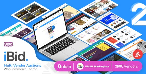 Download iBid  – Multi Vendor Auctions Theme wordpress themes gpl licenced not nulled not cracked for free