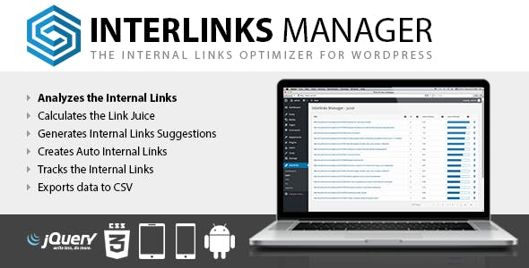 Download Interlinks Manager for WordPress Wordpress Plugins gpl licenced not nulled not cracked for free