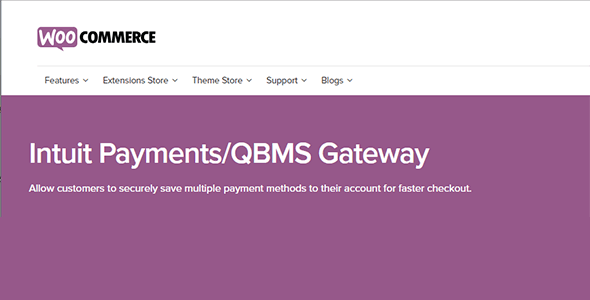 Download WooCommerce Intuit QBMS Payment Gateway Wordpress Plugins gpl licenced not nulled not cracked for free