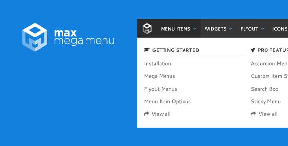 Download Max Mega Menu WordPress Plugin Wordpress Plugins gpl licenced not nulled not cracked for free