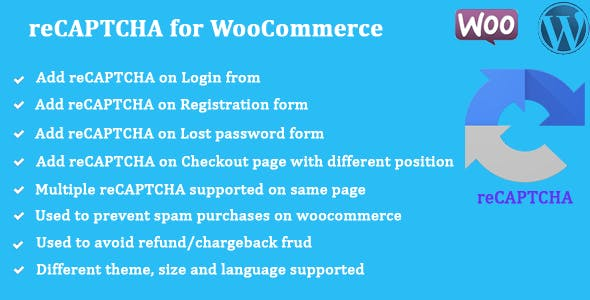 Download reCAPTCHA for WooCommerce Wordpress Plugins gpl licenced not nulled not cracked for free