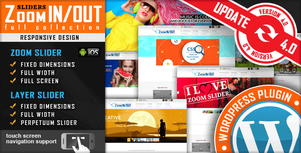 Download Responsive Zoom In/Out Slider Wordpress Plugins gpl licenced not nulled not cracked for free