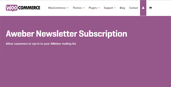 Download Woo AWeber Newsletter Subscription Wordpress Plugins gpl licenced not nulled not cracked for free