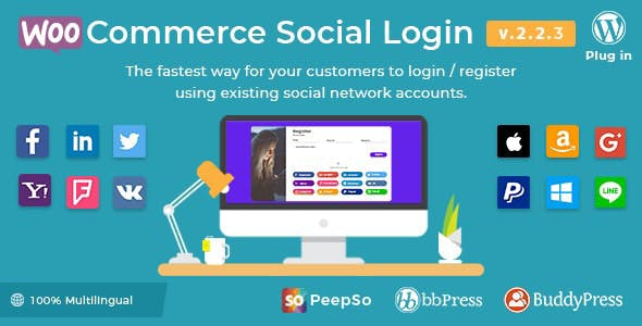 Download WooCommerce Social Login Wordpress Plugins gpl licenced not nulled not cracked for free
