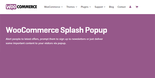Download WooCommerce Splash Popup Wordpress Plugins gpl licenced not nulled not cracked for free