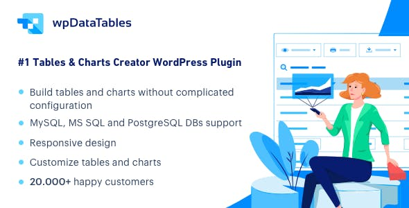 Download wpDataTables  – Tables and Charts Manager Wordpress Plugins gpl licenced not nulled not cracked for free