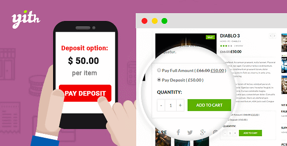 Download YITH Deposits and Down Payments Premium Wordpress Plugins gpl licenced not nulled not cracked for free